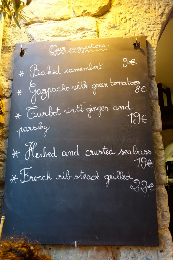 Daily Menu on the Blackboard