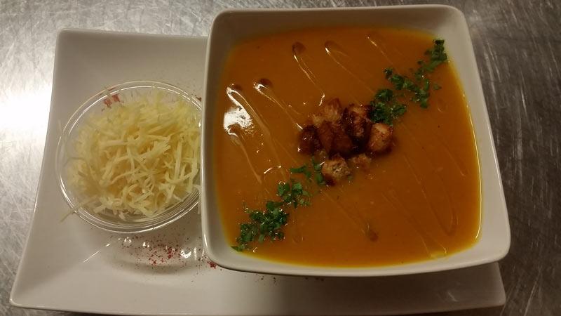 Soupe de potiron, Restaurant au Four Saint Louis, Carcassonne